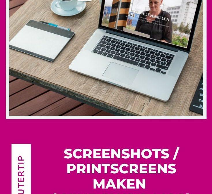 Screenshots / Printscreens maken (Windows & Mac)