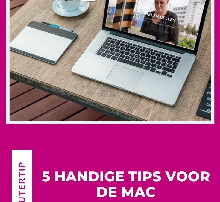 5 Handige tips voor de Mac