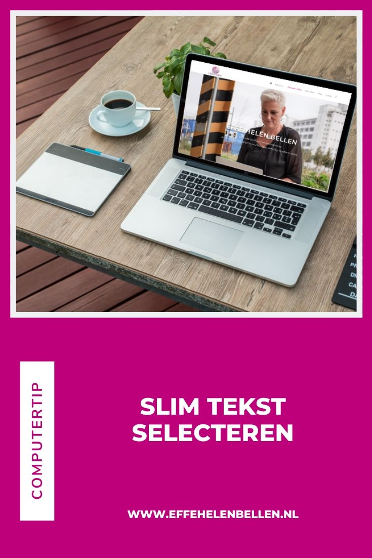 Computertip - Slim tekst selecteren