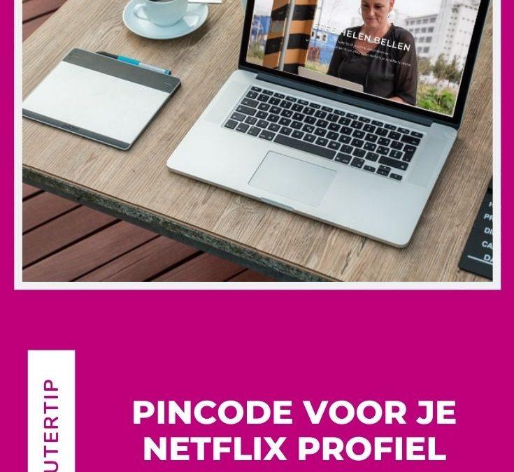 Pincode voor je Netflix profiel