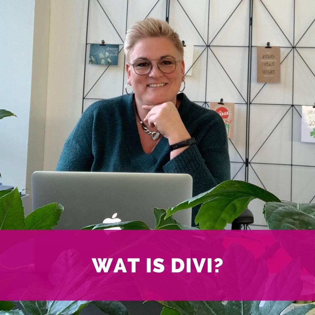 Wat is Divi? Helen van Rijn aan bureau in kantoor HelenHelpt